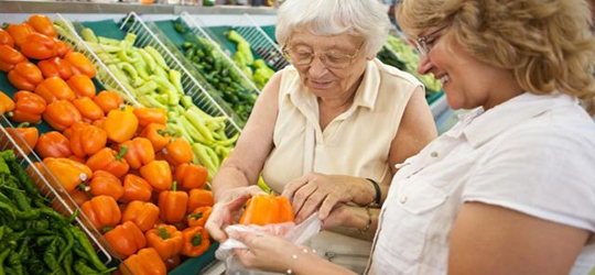 Grocery Shopping for an Elderly Person