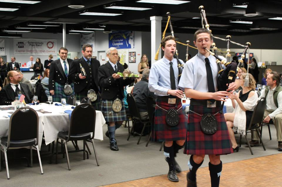 Robert Burns celebration supper in Albany