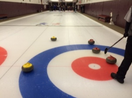 Olympic warmup at Sch'dy Curling Club